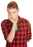 Punk with Hand on Chin Royalty Free Stock Image