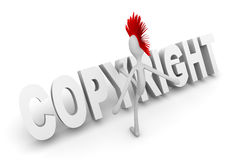 Punk het schoppen auteursrecht Royalty-vrije Stock Afbeelding