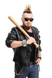 Punk holding a baseball bat Royalty Free Stock Photography