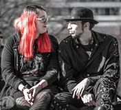 Punk love Berllin style royalty free stock image