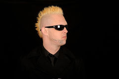 Punk man with Mohawk hair royalty free stock images