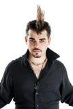 Punk man with mohawk hairdo Stock Photo
