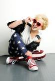 Punk meisje Royalty-vrije Stock Afbeeldingen