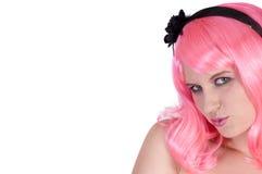 Punk meisje met houding Stock Foto