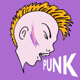 Punk Mowhawk Character Royalty Free Stock Photo