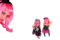 Punk nel colore rosa fotografia stock libera da diritti