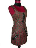 Punk Plaid Dress on Mannequin. Punk plaid dress isolated on a red mannequin/form Royalty Free Stock Images