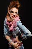 punk rökning för flickaglam Arkivbilder
