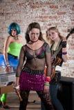 Punk rock żeński Zespół Zdjęcie Royalty Free