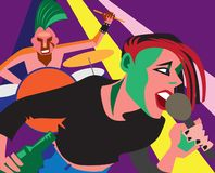 Punk rock imagen de archivo