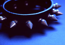 Punk Rock!. A spiked leather collar Stock Photo