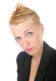 punk rock biznesowa kobieta Zdjęcie Stock