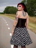 punk rock för flicka Arkivbilder