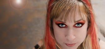 punk rock för flicka Royaltyfri Fotografi