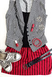 Punk / rock fashion outfit. Stock Image