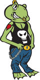 Punk Rock Frog. Can be used for anything Royalty Free Stock Photo