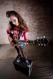 Punk Rock Girl Stock Photo