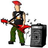 Punk rock guitarist Royalty Free Stock Photos