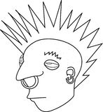 Punk Rock Mohawk Rebel  Stock Photography
