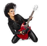 Punk rock musician isolated Royalty Free Stock Image