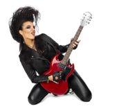 Punk rock muzyk odizolowywający Obraz Royalty Free