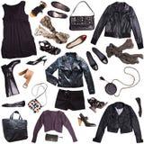 Punk rock style clothing. For females Royalty Free Stock Image