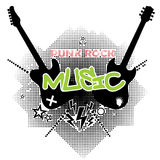 Punk rock tło royalty ilustracja