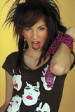 Punk rock teen girl. Teenage girl in punk rock clothes Royalty Free Stock Images