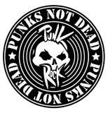 Punk rockembleem Royalty-vrije Stock Afbeeldingen