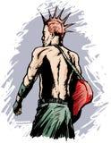 Punk rocker. Grungy drawing of a punk rocker Stock Photo