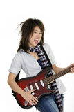 Punk Rocker. Caucasian teenager posing as a punk rocker on white background Royalty Free Stock Photos