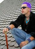Punk on roof Stock Photos