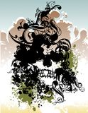 Punk schedelillustratie Royalty-vrije Stock Fotografie