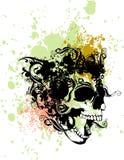 Punk schedelillustratie Stock Afbeelding