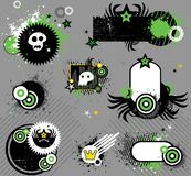 Punk set of design elements. Vector collection of stylish design elements. To see similar design elements, please visit my gallery Royalty Free Stock Images