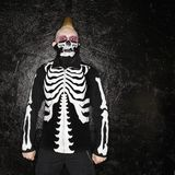 Punk with skeleton costume. Stock Photos