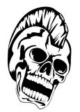 Punk skull Royalty Free Stock Photography
