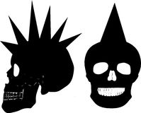 Punk skull Royalty Free Stock Photos