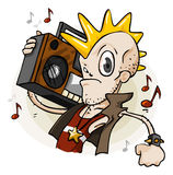 Punk with Stereo. Cartoon Series Royalty Free Stock Images