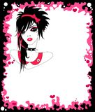 Punk style. The princess girl in the punk style Royalty Free Stock Photography