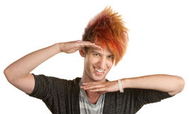 Punk Teen Hand Gesture Stock Photos