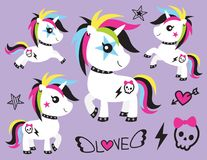 Punk Unicorn Rocker Vector Illustration vector illustration