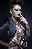 Punk vrouw stock foto