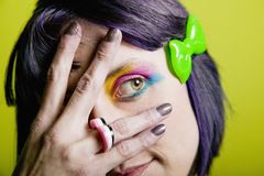 Punk woman with bright makeup Royalty Free Stock Photography