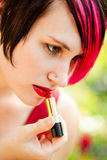 Punk woman with lipstick Stock Image