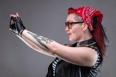 Punk woman making selfie Royalty Free Stock Image