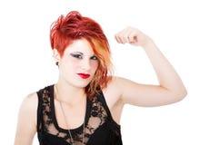Punk woman muscle Stock Photos