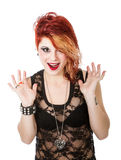 Punk woman say wow Stock Photography