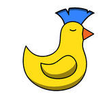 Punk yellow duck Stock Photography