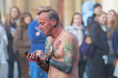 Punk zum Punk stockfotografie